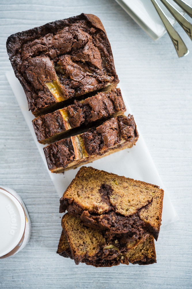 Nutella Banana Bread - video how to - Rolled in Dough